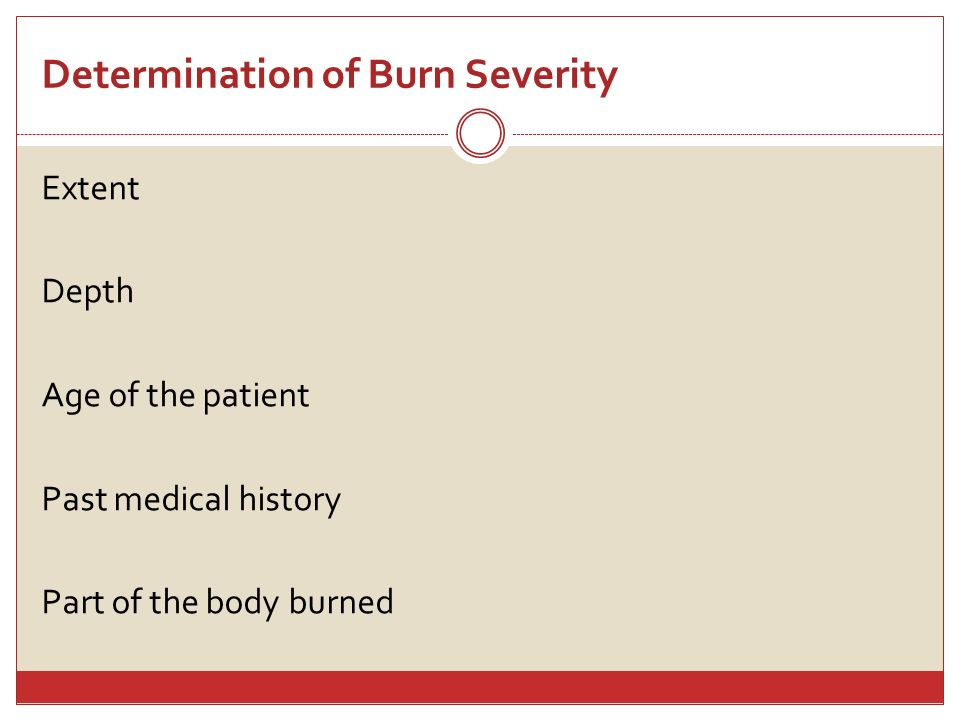 Determination of Burn Severity