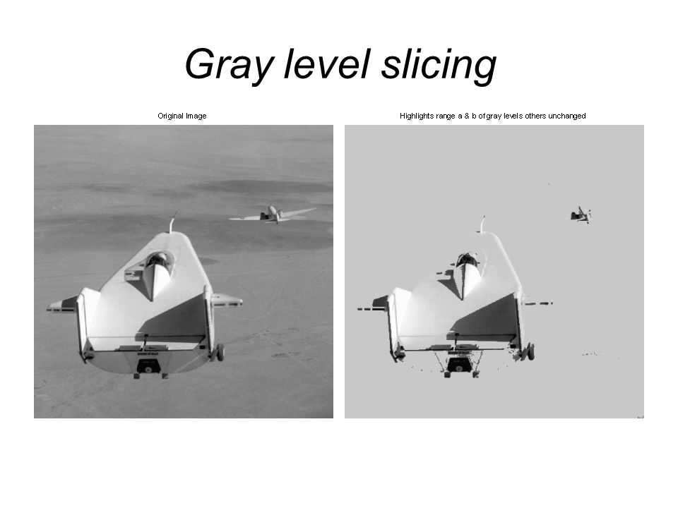 Gray level slicing