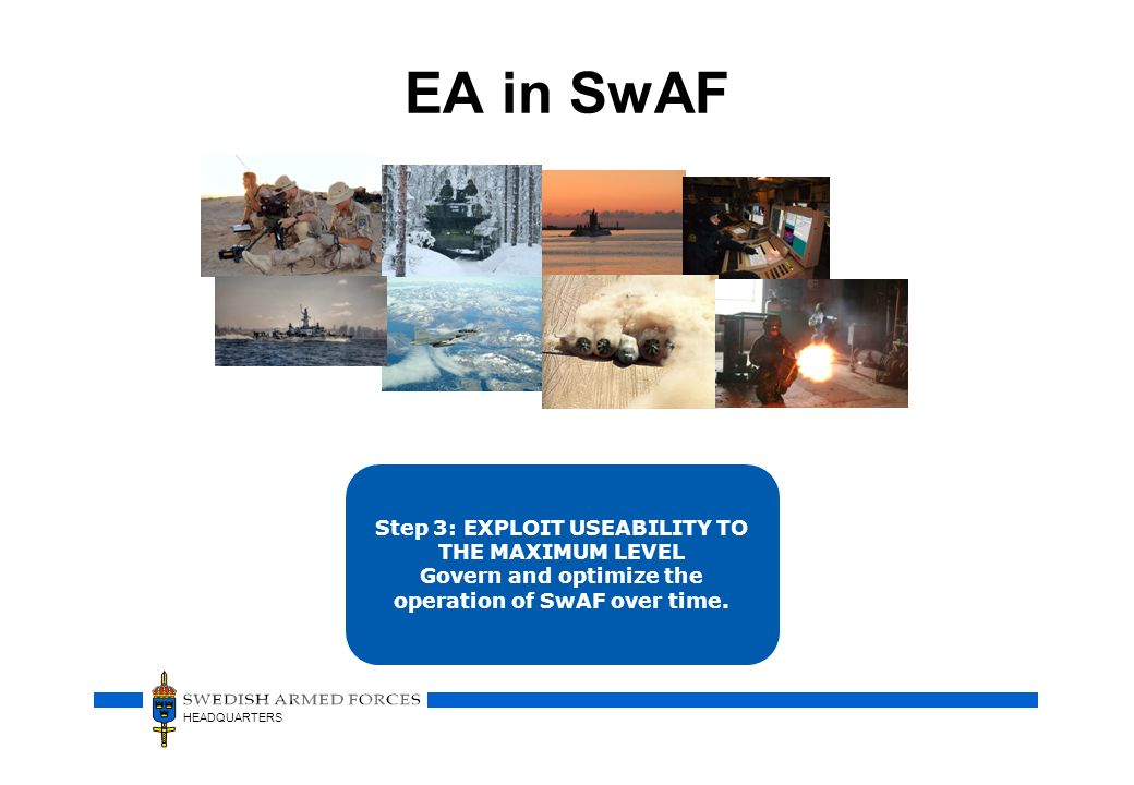 EA in SwAF ….. To answer the question When .