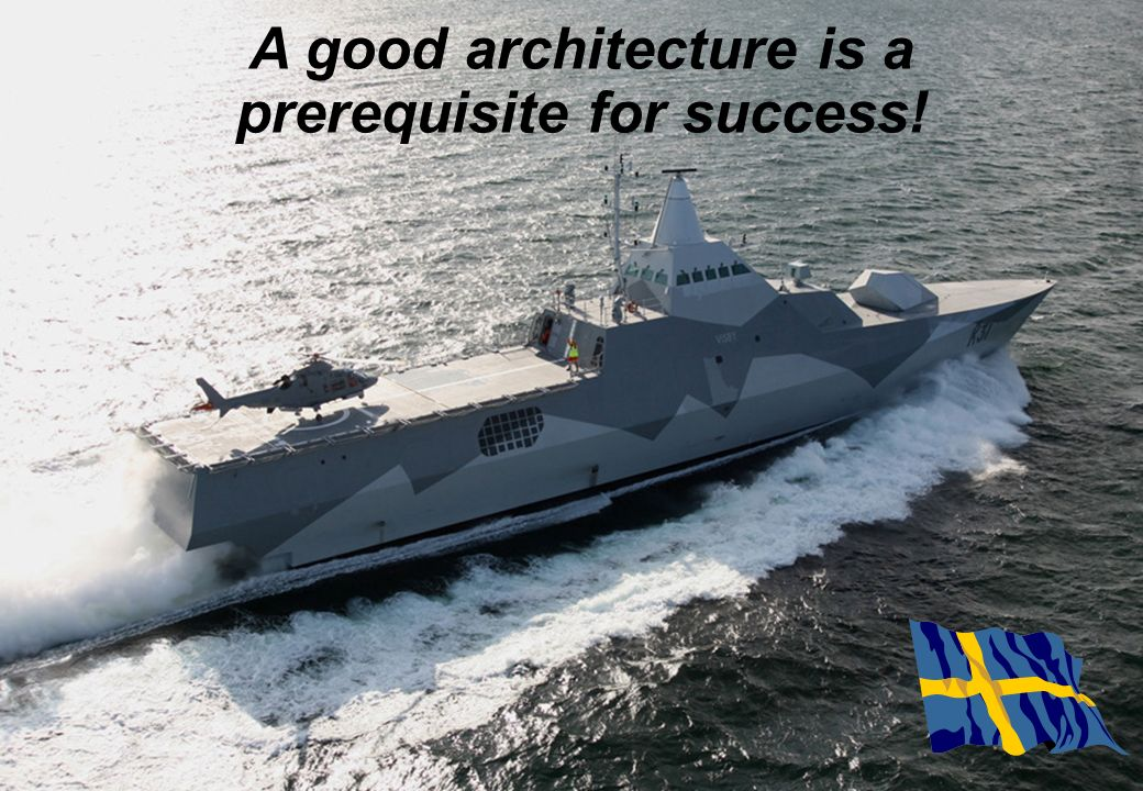 A good architecture is a prerequisite for success!