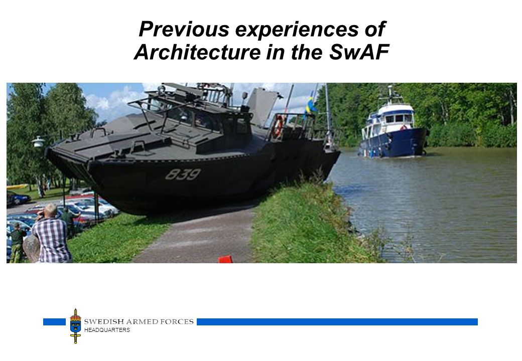 Previous experiences of Architecture in the SwAF