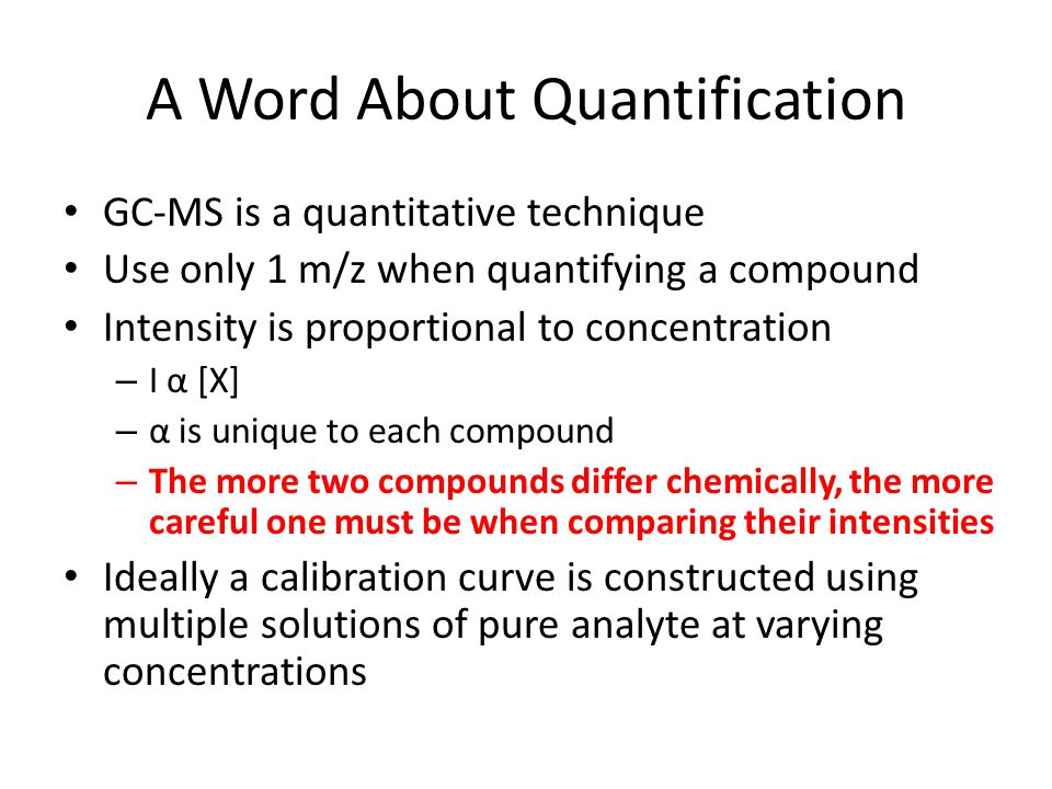 A Word About Quantification