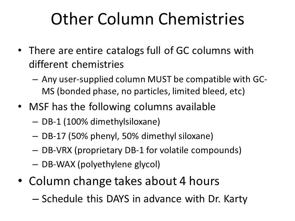 Other Column Chemistries