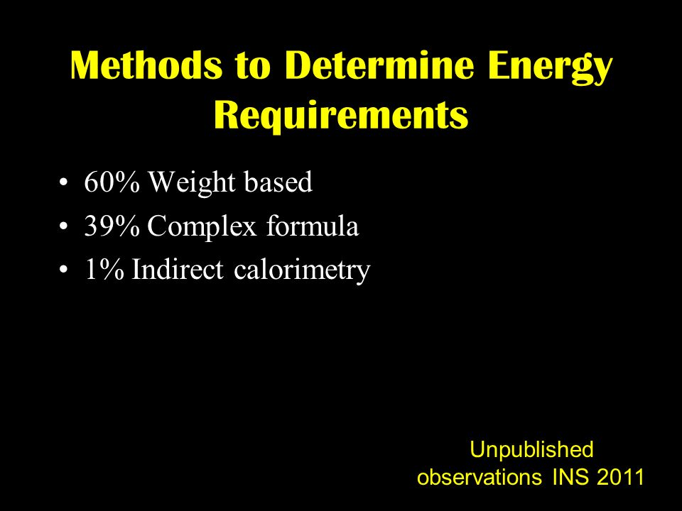 Methods to Determine Energy Requirements