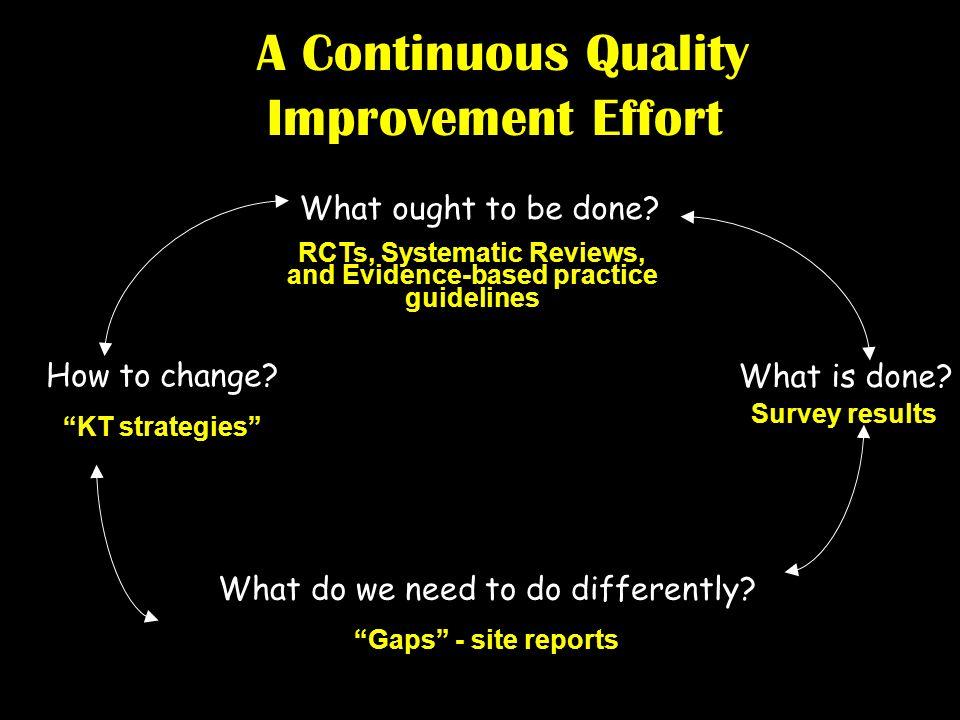 A Continuous Quality Improvement Effort