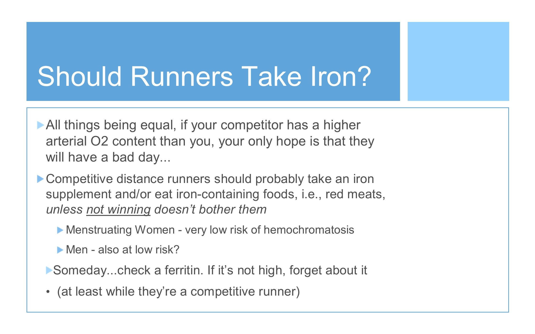 Should Runners Take Iron