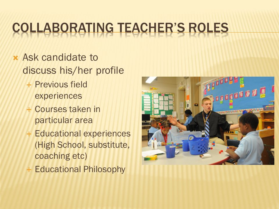 Collaborating Teacher's Roles