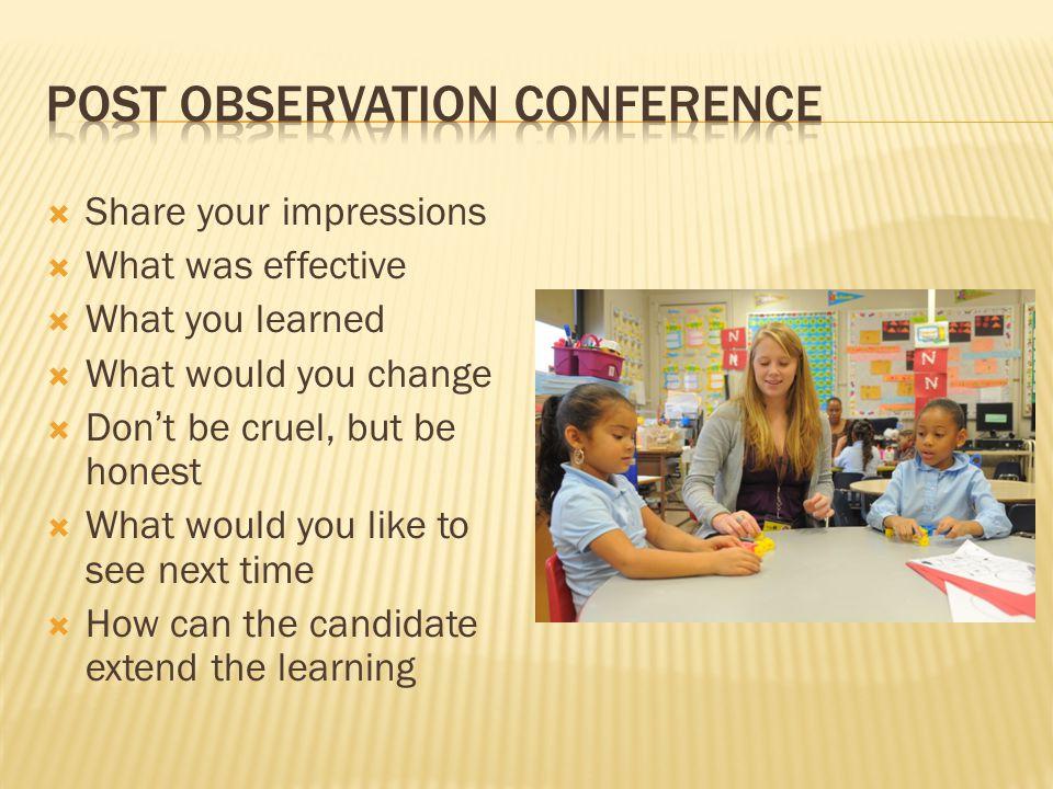 Post observation conference