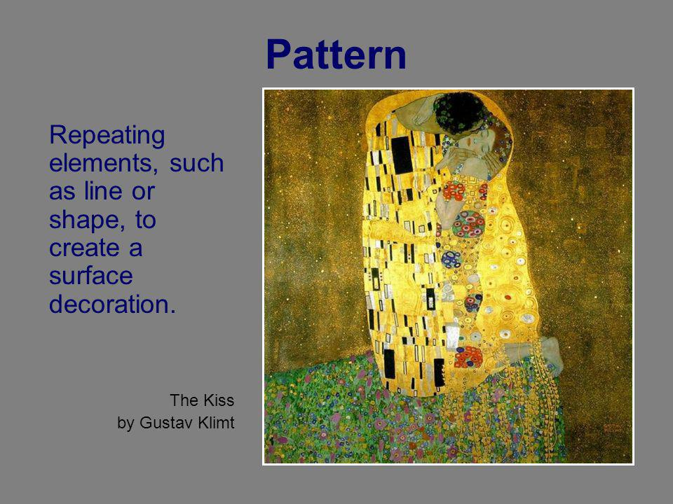 Pattern Repeating elements, such as line or shape, to create a surface decoration.