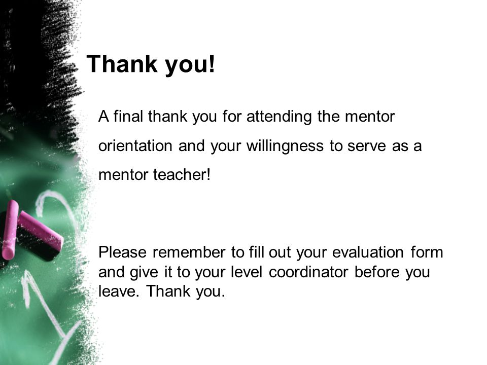 Teacher Candidate & Mentor Teacher Orientation