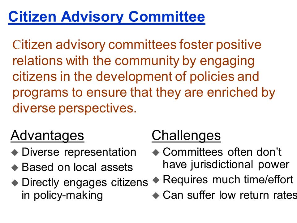 Citizen Advisory Committee