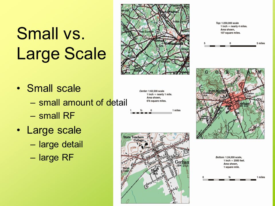 Small vs. Large Scale Small scale Large scale small amount of detail