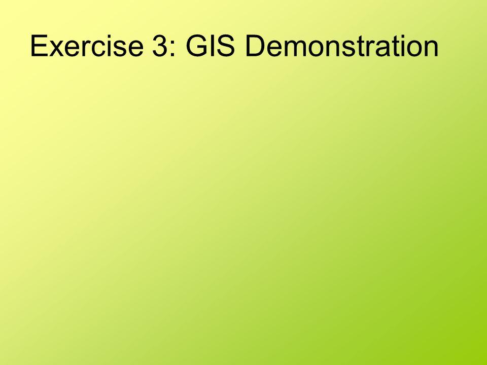 Exercise 3: GIS Demonstration