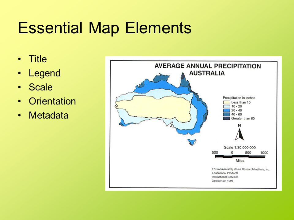 Essential Map Elements
