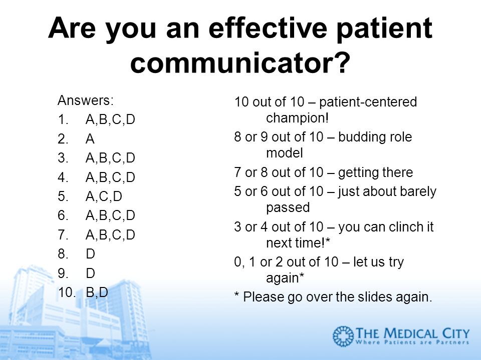 Are you an effective patient communicator