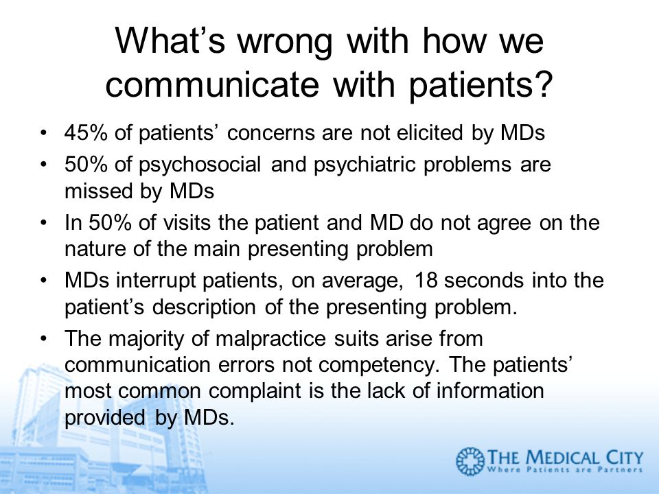 What's wrong with how we communicate with patients