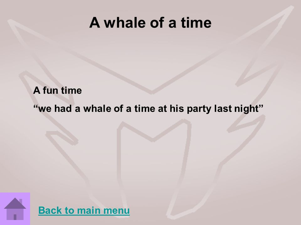 A whale of a time A fun time