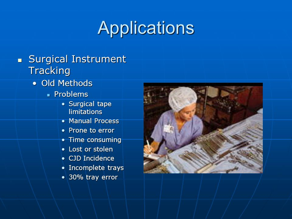 Applications Surgical Instrument Tracking Old Methods Problems