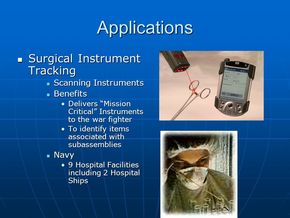 Applications Surgical Instrument Tracking Scanning Instruments