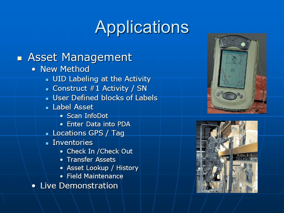 Applications Asset Management New Method Live Demonstration