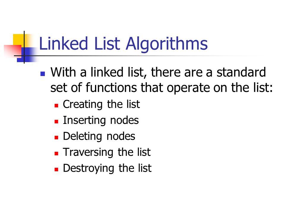 Linked List Algorithms