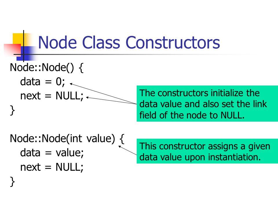 Node Class Constructors