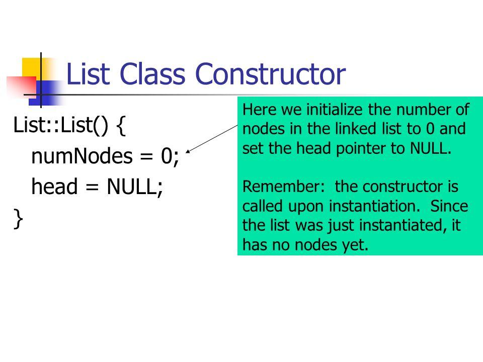 List Class Constructor