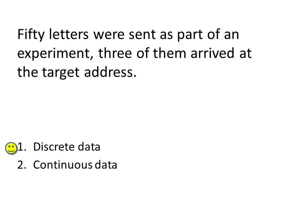 Fifty letters were sent as part of an experiment, three of them arrived at the target address.