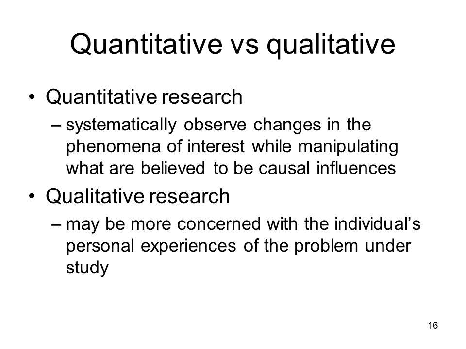 Quantitative vs qualitative