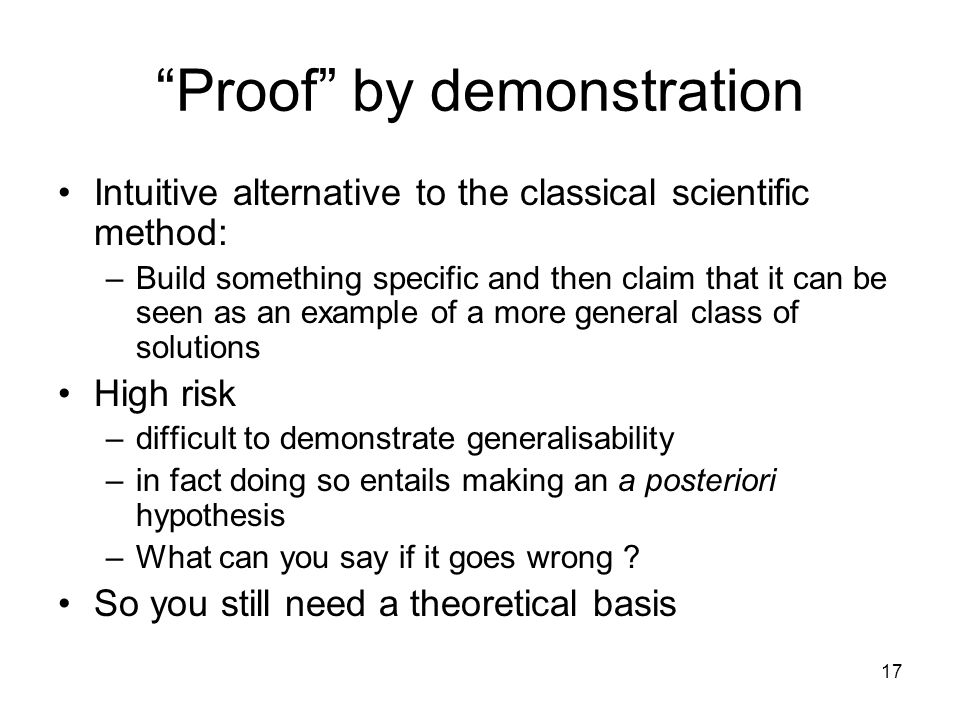 Proof by demonstration