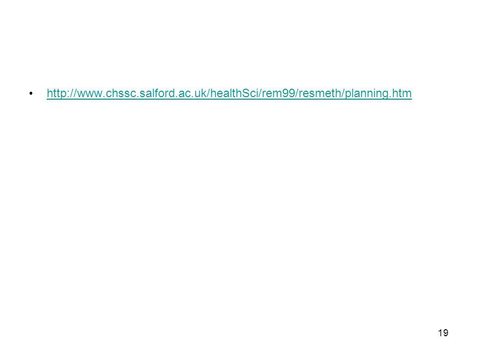 http://www. chssc. salford. ac. uk/healthSci/rem99/resmeth/planning