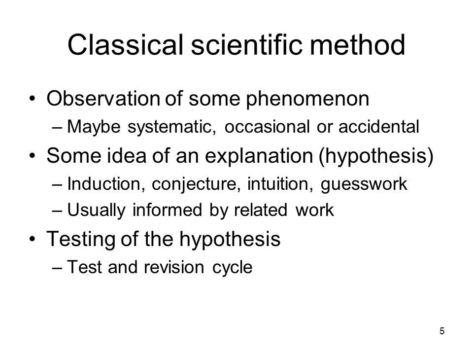 Classical scientific method