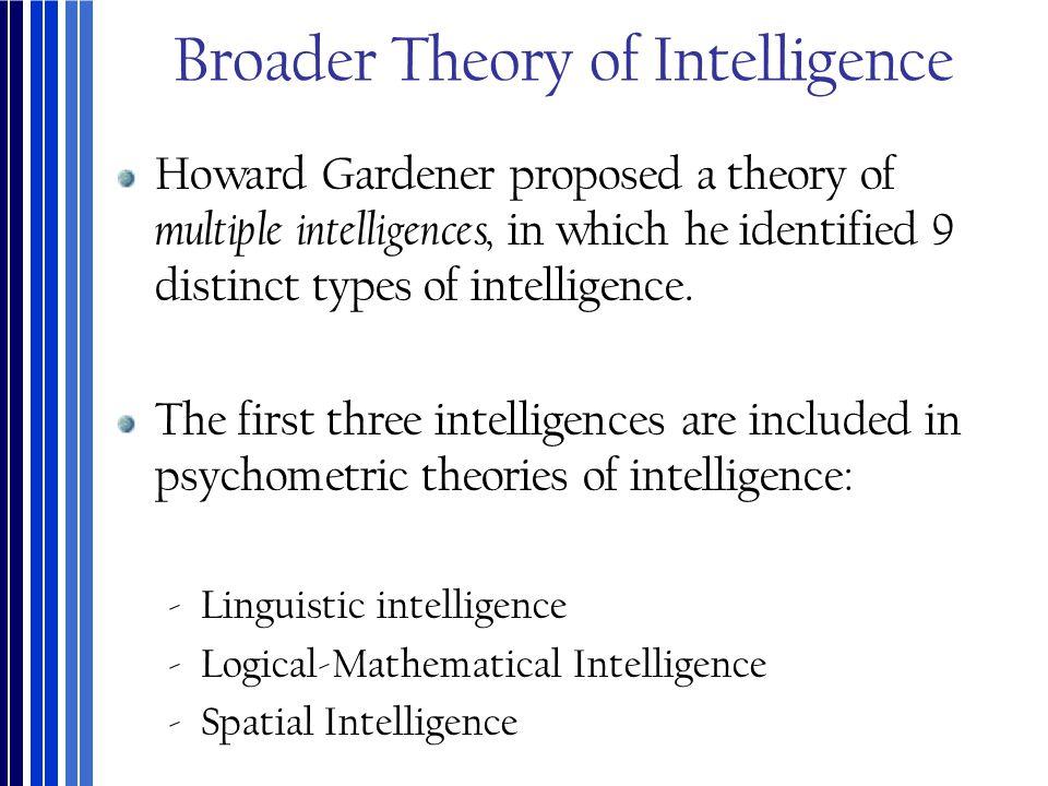 Broader Theory of Intelligence