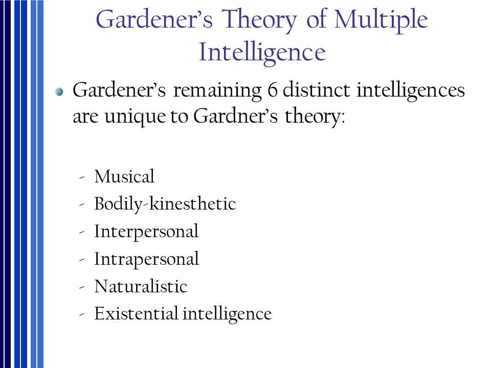 Gardener's Theory of Multiple Intelligence