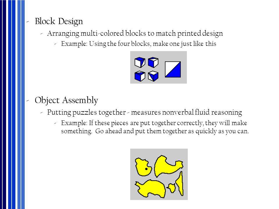 Block Design Object Assembly