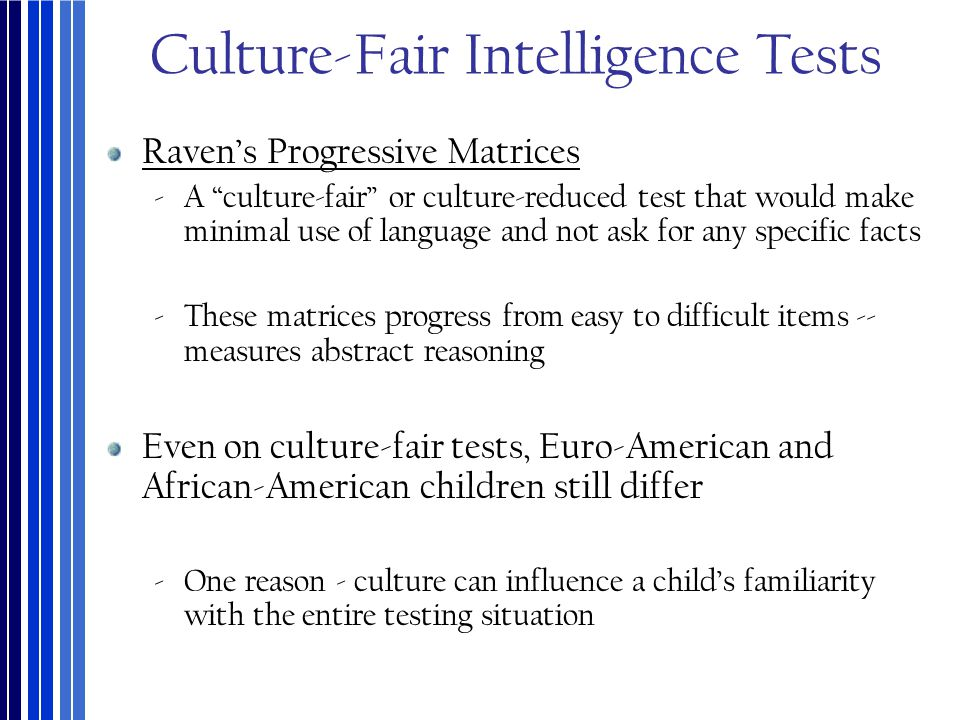 Culture-Fair Intelligence Tests