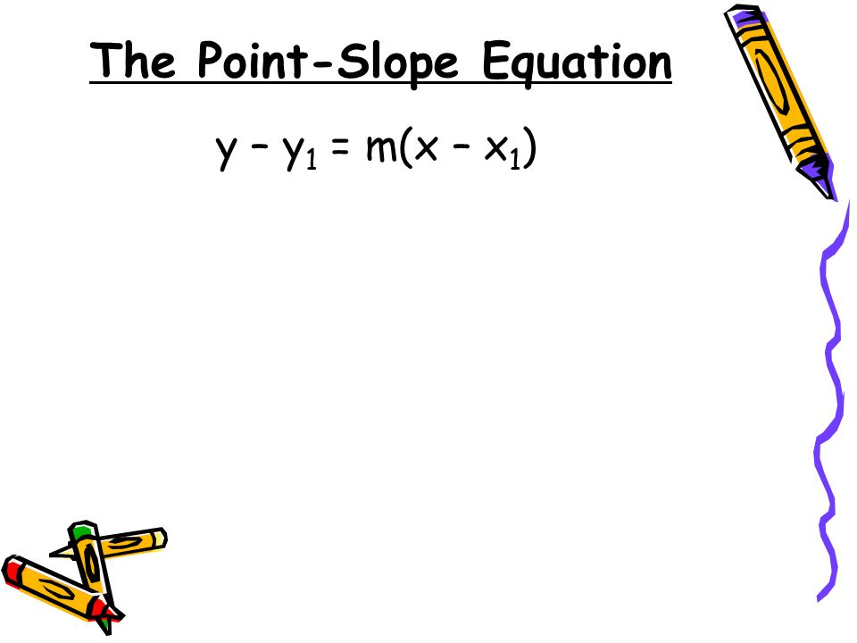 The Point-Slope Equation