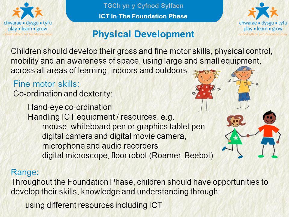 Physical Development Fine motor skills: Range: