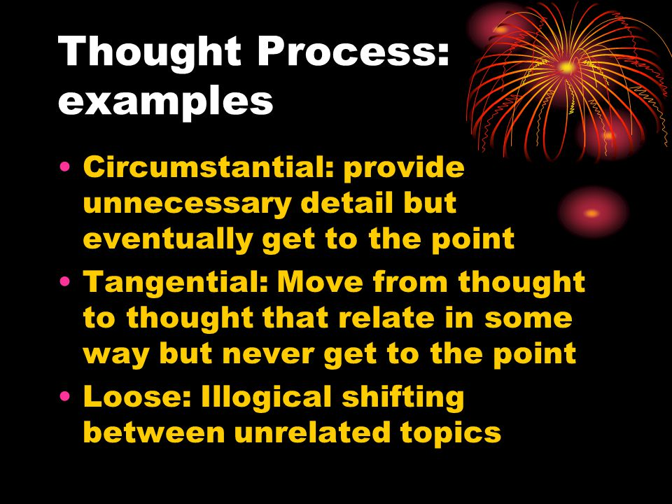 Thought Process: examples