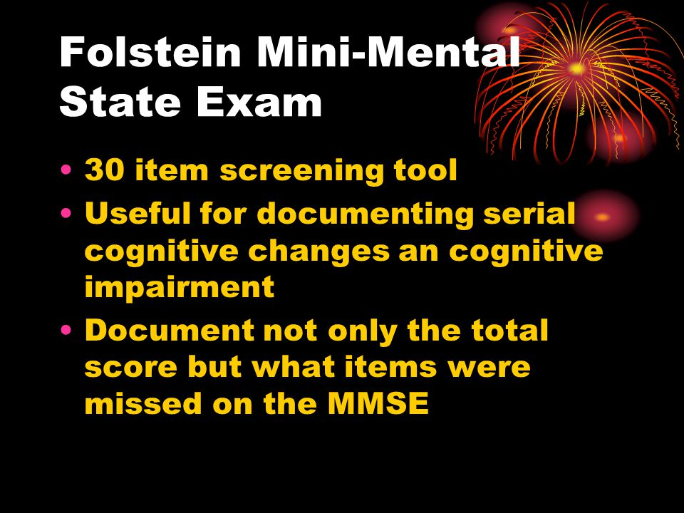 Folstein Mini-Mental State Exam