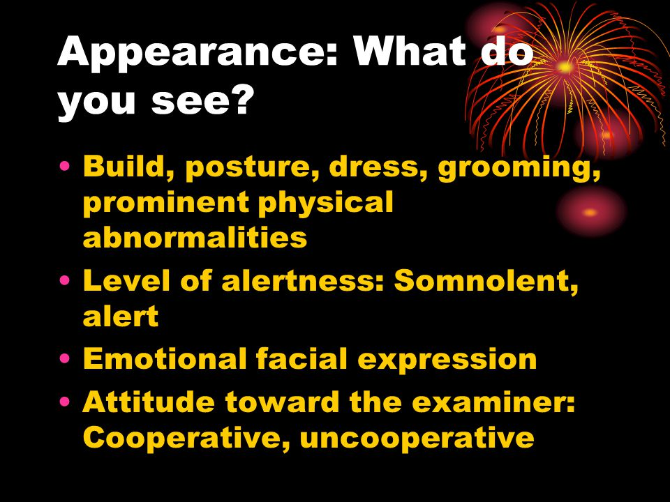 Appearance: What do you see