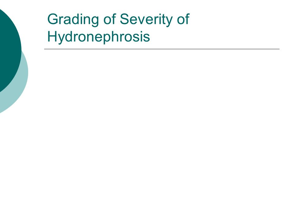 Grading of Severity of Hydronephrosis