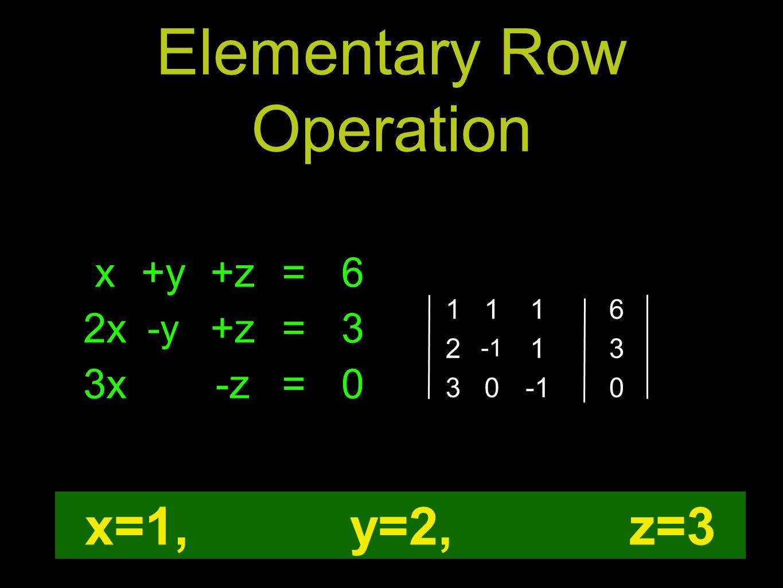Elementary Row Operation