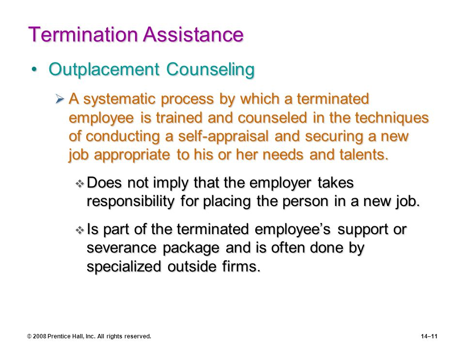Termination Assistance