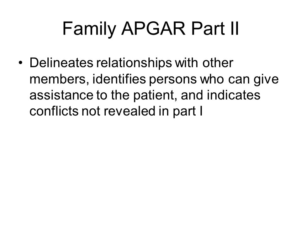Family APGAR Part II