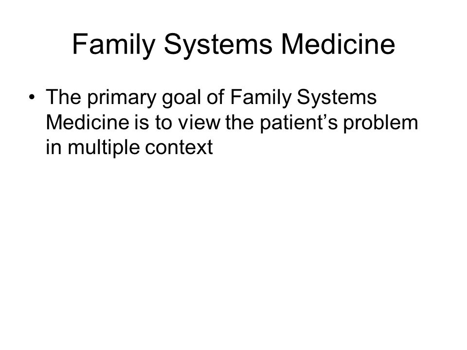 Family Systems Medicine