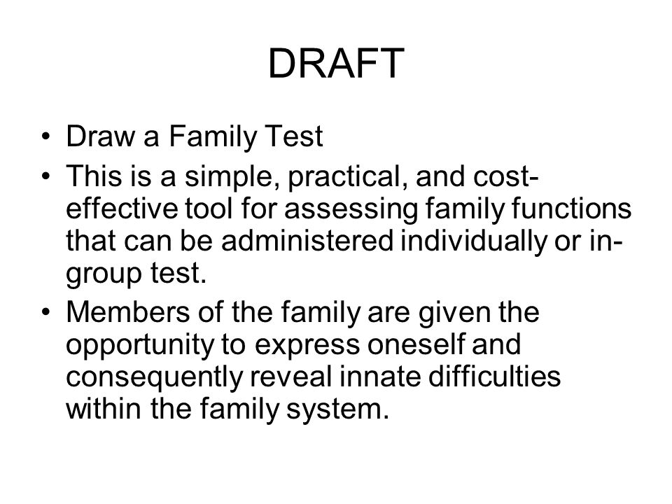 DRAFT Draw a Family Test