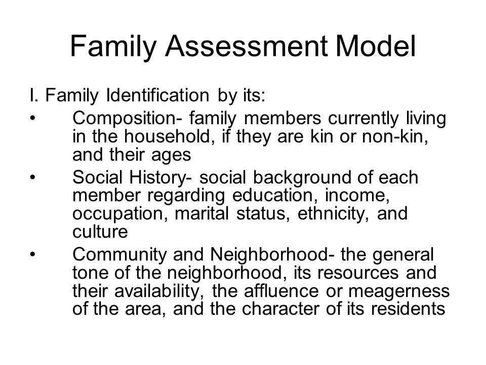 Family Assessment Model