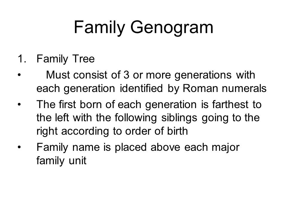 Family Genogram Family Tree