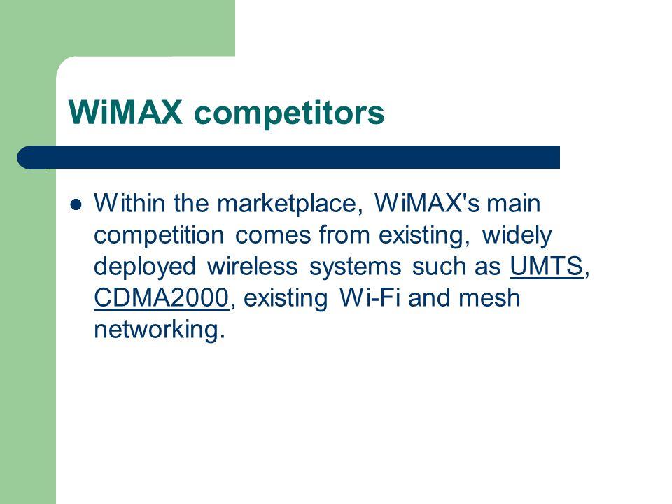 WiMAX competitors